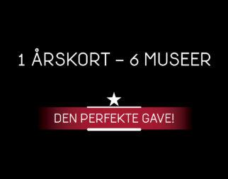 1 årskort – 6 museer! Den perfekte gave.